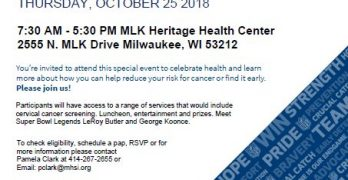 Milwaukee Health Services, Inc. to Offer Crucial Catch – Intercept Cancer Event