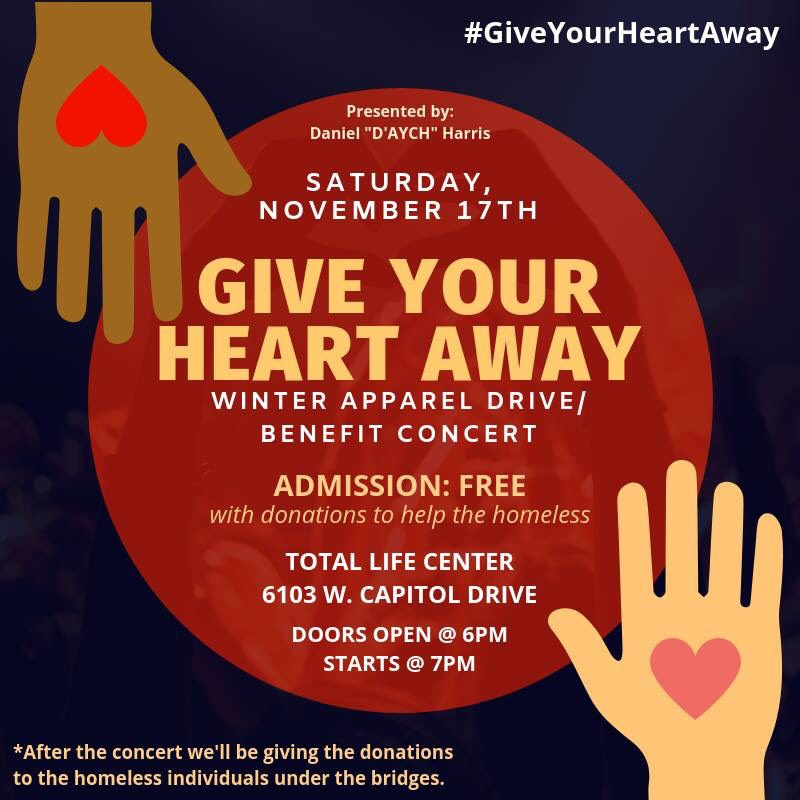 The Annual Give Your Heart Away Concert A D Aych Music Initiative Milwaukee Community Journal